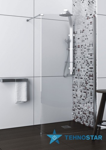 Фото - Душевая кабина Aquaform 100-06084/85 SOLITARE walk-in без піддона 785х2000 Хром/Скло прозоре R/L