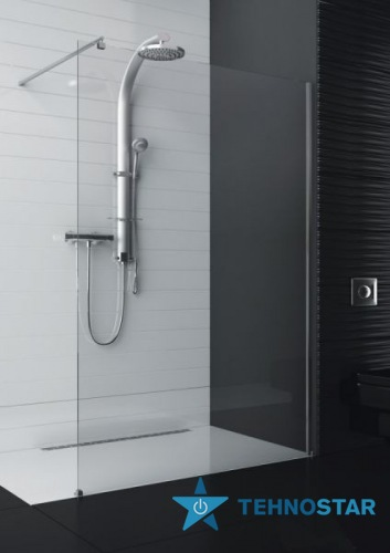 Фото - Душевая кабина Aquaform 103-013101 SOUL walk-in 1000х2000 Хром/Скло прозоре