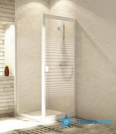 Фото - Душевая дверь Aquaform 103-26508 ELBA 900х1800 Білий/Скло - смуги