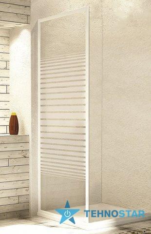 Фото - Душевая дверь Aquaform 103-26584 ELBA 900х1800 Білий/Скло - смуги