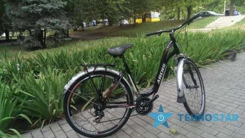 Фото - Велосипед Ardis FLORENCE 26/ рама 17 Черно-зеленая или красная полоса глянец