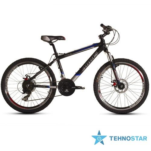 Фото - Велосипед Ardis Silver Bike 500 26 / рама 16 Черно-серый-(синяя полоса) глянец