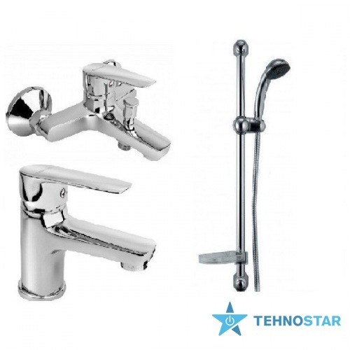 Фото - набор смесителей Armatura 5111-001-00 SOFIT (5114-010-00, 5112-814-00, 841-326-00-BL)