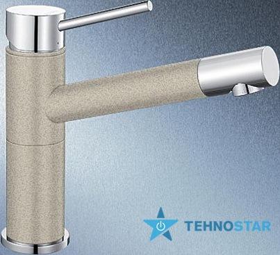 Фото - Смеситель для мойки Blanco ALTA Compact 515320 хром/песочный