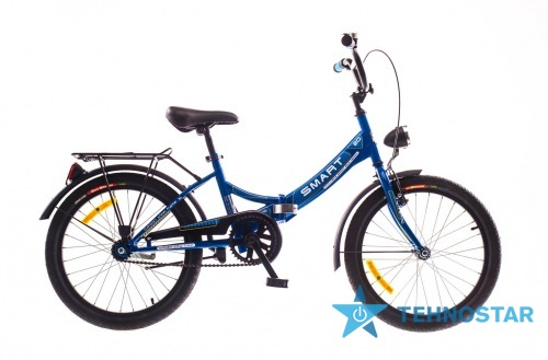 Фото - Велосипед Dorozhnik SMART 14G St с багажн. синий 2016