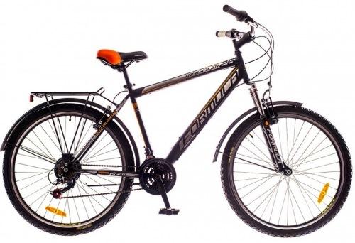 Фото - Велосипед Formula MAGNUM 26 AM 14G  Vbr   St с багажн. черно-оранжевый (м)  2016