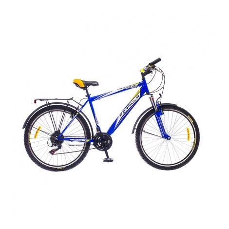 Фото - Велосипед Formula MAGNUM 26 AM 14G  Vbr   St с багажн. сине- желтый   2016