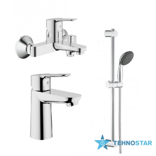 Фото - набор смесителей Grohe 123265S BauEdge набор для ванны (23330000+32820000+27948000)