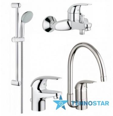 Фото - набор смесителей Grohe 123752 Euroeco bath + kitchen bundle