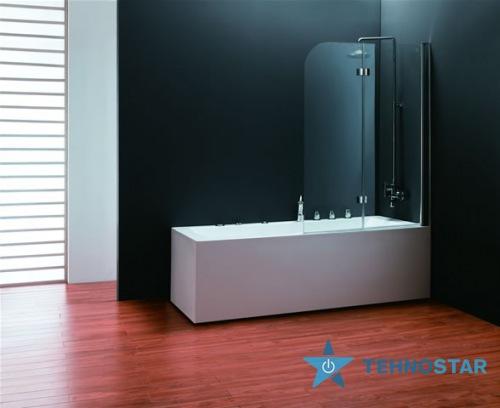 Фото - Шторка для ванны Koller Pool QP97 1150x1400 chrome; clear (right)