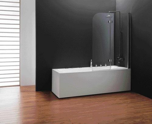 Фото - Шторка для ванны Koller Pool  1150x1400 chrome clear (двух. элемент)