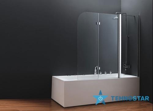 Фото - Шторка для ванны Koller Pool QP96 1500x1400 chrome; grape (left)