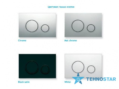 Фото - Кнопка к инсталляциям Koller Pool Twin Chrome