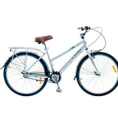 Фото - Велосипед Leon 26 SOLARIS LADY Al с багажн. бел. 2014