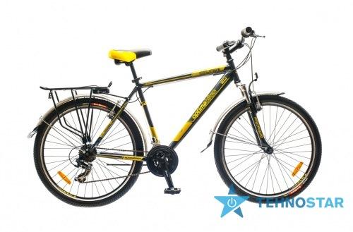 Фото - Велосипед Optimabikes 26 COLUMB AM 14G St с багажн. черно-желтый 2015