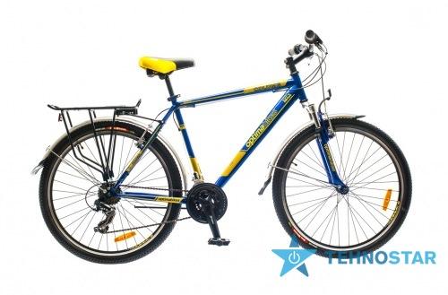 Фото - Велосипед Optimabikes 26 COLUMB AM 14G     St с багажн. сине-жёлтый  2015