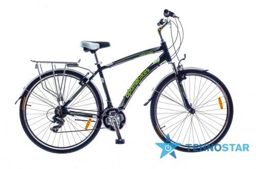 Фото - Велосипед Optimabikes 28 HIGHWAY AM   Vbr   Al с багажн. черно-зелен.  2015