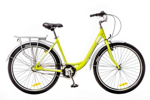 Фото - Велосипед Optimabikes 26 VISION 14G планет. Al с багажн. зеленo-белый  (м) 2016