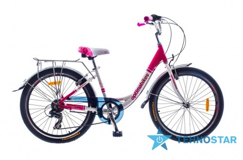 Фото - Велосипед Optimabikes 24 VISION Vbr Al с багажн. бело-красный 2015