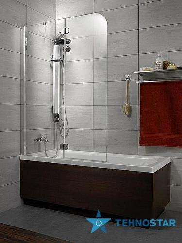 Фото - Шторка для ванны Radaway 201202-105 L/R  Torrenta PND 1010 (хром/графит)