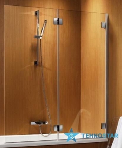 Фото - Шторка для ванны Radaway 202201-101R Carena PND 130R (правая/хром/прозрачное)