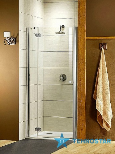 Фото - Душевая дверь Radaway 31940-01-10N Torrenta DWJ 110L (левая, хром/каррэ)
