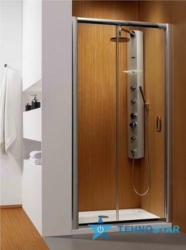 Фото - Душевая дверь Radaway 33323-01-08N Premium  Plus DWJ 140 (хром/коричнеовое)