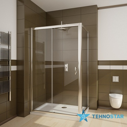 Фото - Душевая дверь Radaway 33423-01-08N Premium Plus S 100 (хром/коричневое)
