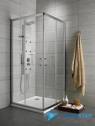 Фото - Душевая дверь Radaway 33443-01-06N Premium  Plus 2S 80 (хром/фабрик)