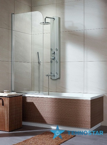 Фото - Шторка для ванны Radaway 205101-101 L/R  Eos PNJ 70 (хром/прозрачное)