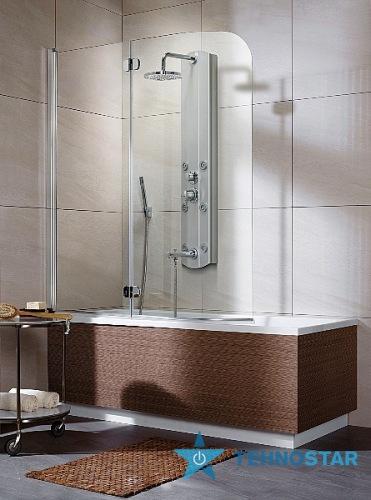 Фото - Шторка для ванны Radaway  205202-101 L/R Eos PND 130 (хром/прозрачное)