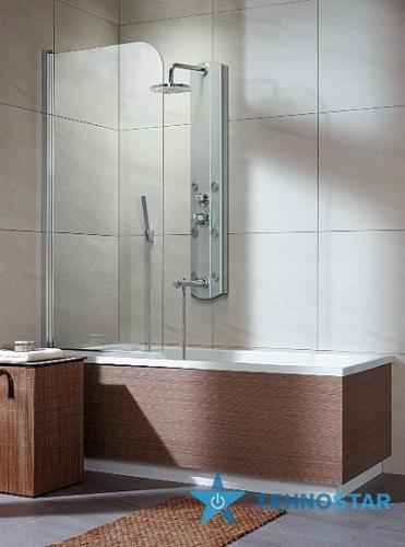 Фото - Шторка для ванны Radaway 201101-101 L/R  Torrenta PNJ 80 (хром/прозрачное)