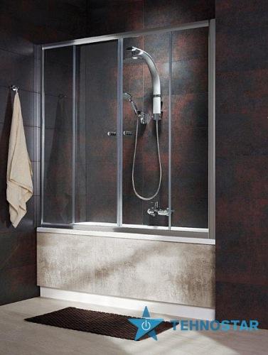 Фото - Шторка для ванны Radaway  203140-06 Vesta DWD 140 (хром/фабрик)