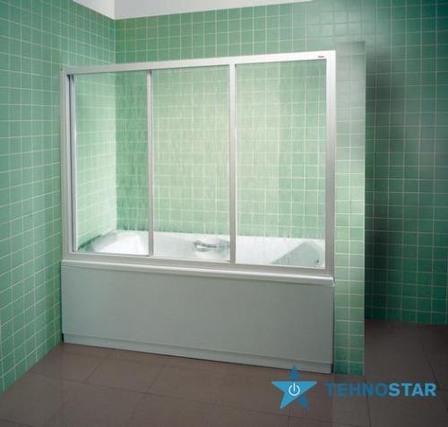 Фото - Шторка для ванны Ravak AVDP3-120 Transp Satin 40VG0U02Z1