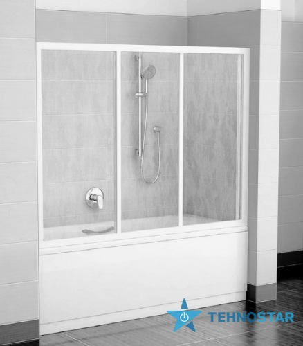 Фото - Шторка для ванны Ravak AVDP3-150 Rain Satin 40VP0U0241