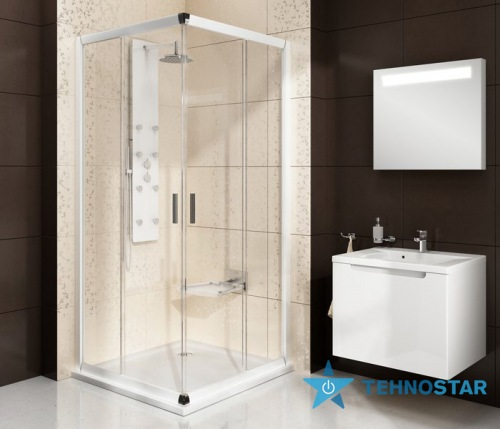 Фото - Душевая кабина Ravak BLRV2-90 bright alu+glass Grafit