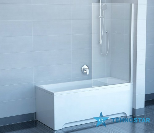 Фото - Шторка для ванны Ravak CVS1-80 L/R сатин +Transparent 7QL40U00Z1/7QR40U00Z1