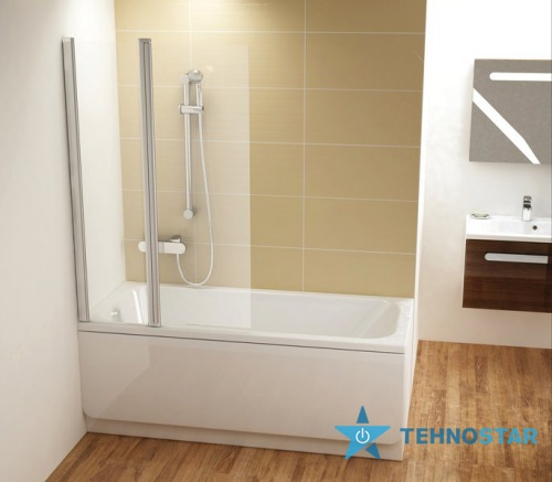 Фото - Шторка для ванны Ravak CVS2-100L/R white (Transparent) 7QLA0100Z1/7QRA0100Z1