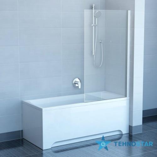 Фото - Шторка для ванны Ravak PVS1-80 Transp Satin