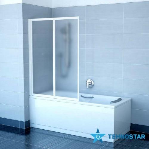 Фото - Шторка для ванны Ravak VS2 105 Rain Satin 796M0U0041