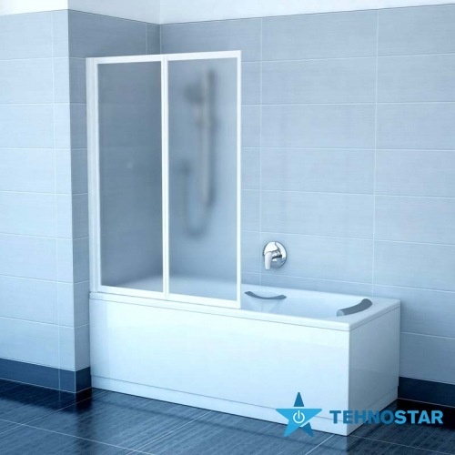 Фото - Шторка для ванны Ravak VS2 105 Rain White 796M010041