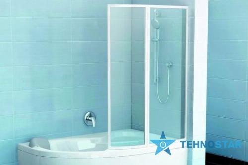 Фото - Шторка для ванны Ravak VSK2 Rosa 140 L/R Rain white