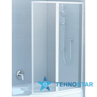 Фото - Шторка для ванны Ravak VSK2 Rosa 150 L/R Rain white 76L8010041/76P8010041