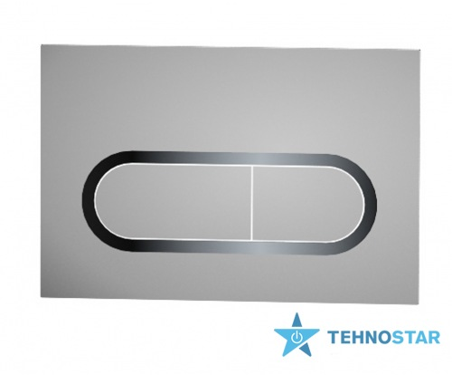 Фото - Кнопка к инсталляциям Ravak WC flush plate Chrome satin X01454