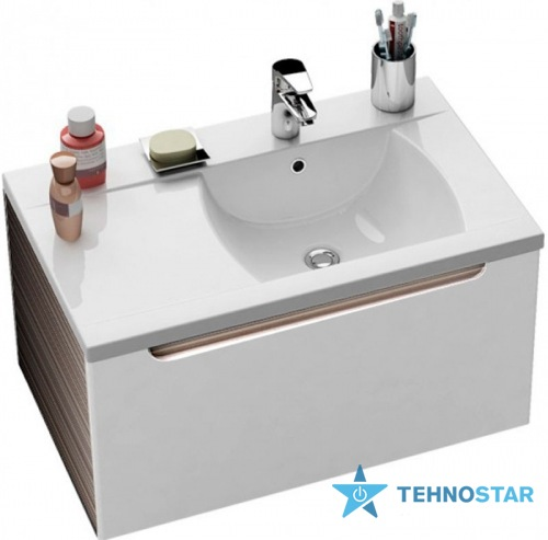 Фото - Тумба для умывальника Ravak Wash basin cupboard SD 800-L Classic latte/white