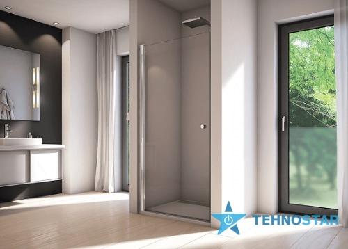 Фото - Душевая дверь Sanswiss SOL109005007 Solino Душові дверцята, хром/прозоре скло /Сорт 1/900x2000