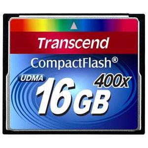 Фото - Карта памяти  Transcend Compact Flash 16 GB (400X)