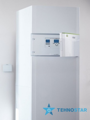 Фото - Тепловой насос Vaillant flexoCOMPACT exclusive VWF 58/4. Модульний тепловий насос з вбудованим водонагрівачем 185 л. Теплова потужністю 5,3 кВт. Холодильна потужність 6,6 кВт. Напруга 400 В
