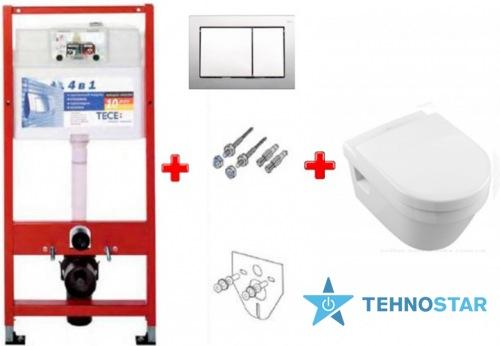 Фото - Инсталяция Villeroy-Boch 9400006+5684HR01 Omnia Architectura Directflush сиденье (Soft Close)