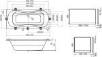 Ravak Campanula II   180x80 + гидромассажная система Relax Pro
